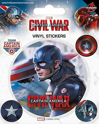 Captain America Civil War Vinyl Stickers New 100% Official Merchandise