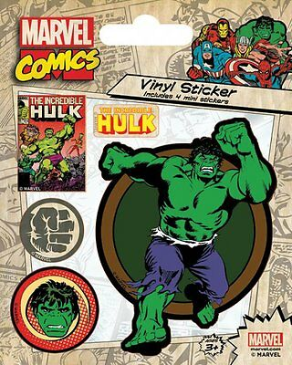 Marvel Comics Hulk Vinyl Stickers New 100% Official Merchandise