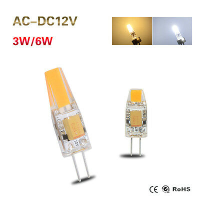 G4 COB LED Bulb Light 3W 6W Crystal Lamp Dimmable Warm/Cool White AC/DC 12V