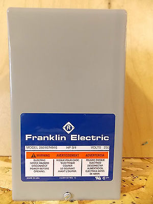 Franklin Electric - 3/4 Hp - Submersible Motor Control Box - 230V / 60Hz / 1Ph