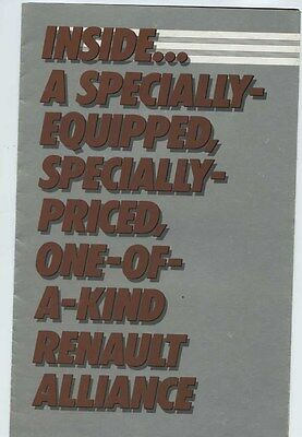 1984 Renault Alliance DL Special Edition Brochure my6148