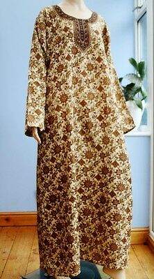 "Cool Loose Long Sleeve Indian Kaftan in Traditional Prints 44"" - 48"" inch chest"