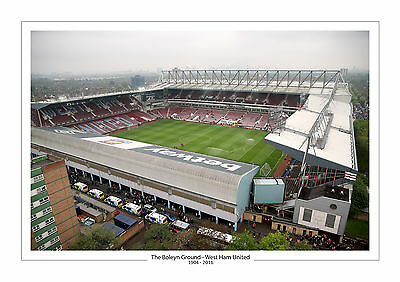 Last Ever Game Stadium Photo Boleyn Ground Upton Park A4 Print Photo West Ham 2