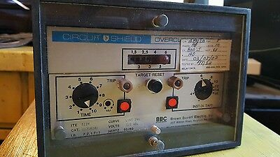 BROWN BOVERI CIRCUIT SHIELD OVERCURRENT RELAY 51im 223s8242 125 VDC electric
