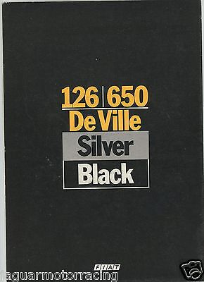 Fiat 126/650 De Ville Silver/black Brochure   English Text