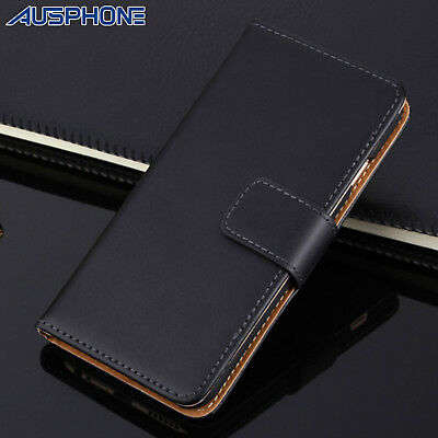NEW Genuine LEATHER Premium Wallet Flip Case Stand Cover for Apple iPhone 6S 6