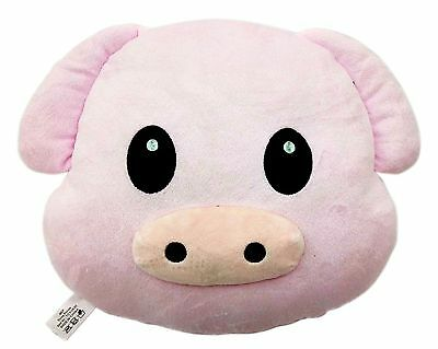 Pig Piggy Emoji Pillow Emoticon Cushion Soft Smiley 32cm NEW