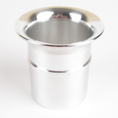 Weber 45 DCOE slot in polished alloy trumpet ram pipe stack 26mm long UK made