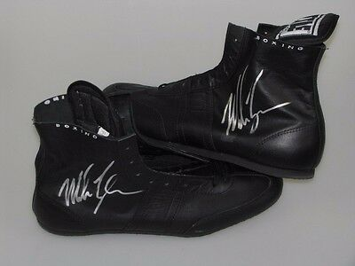 MIKE TYSON Hand Signed PAIR of Boxing Boots From Private Signing + Photo Proof