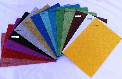 Glitter Rubber Foam / E.V.A. Sheets A4 300 x 200 x 2 mm Various Colours