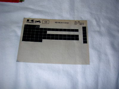 Kawasaki Ke125 Ke 125 A11/a12  Gen Part Catalogue Microfiche