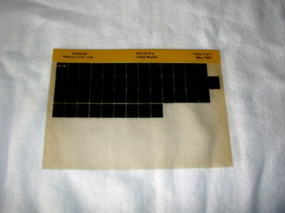 Kawasaki Ke125 Ke 125 A9  (1982 Model)  Gen Part Catalogue Microfiche