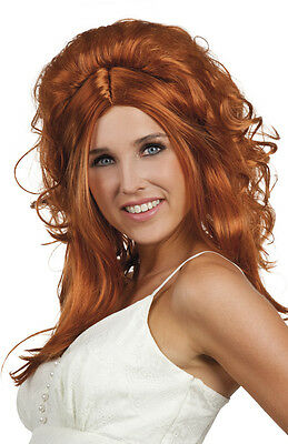 Ginger Perruque Ladies Long Fancy Dress Beautiful Curly Cosplay Full Wig