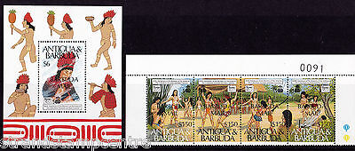 Antigua & Barbuda - 1989 Columbus (2nd Issue) - U/M - SG 1112-5 + MS1116