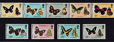 Belize - 1974-76 Butterflies Set to 35c - Spira CA Wmk - U/M - SG 403-13