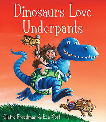 Dinosaurs Love Underpants by Claire Freedman Board Book New