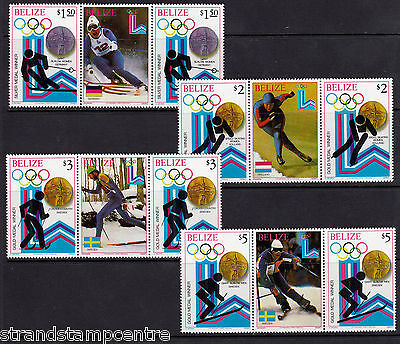 Belize - 1980 Winter Olympics (Winners) - U/M - SG 568-75 GUTTER PAIRS