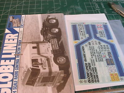 Globe Liner Manual / Instructions 1055571 And Decals Stickers 9495186 Tamiya