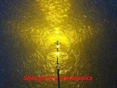 100pcs 5mm Round Yellow Superbright LED Light water clear