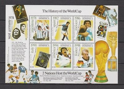 s7391) DOMINICA 2002 MNH** World Cup Football - S/S