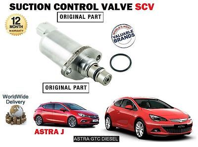 For Vauxhall Opel Astra + Gtc 1.7Cdti 2011-> New Suction Control Valve Scv
