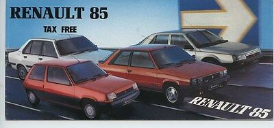 1985 Renault 4GTL 5 9 11 18 25 Espace 2000TSE Turbo Small Brochure my6176