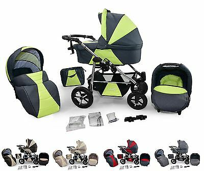 bergsteiger capri kombi kinderwagen 10 teile megaset 3 in. Black Bedroom Furniture Sets. Home Design Ideas