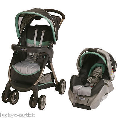 Graco FastAction Fold Classic Connect Travel System Stroller & Car Seat Richmond