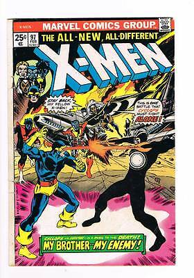 X-Men # 97  My Brother...My Enemy !   grade 3.5  scarce book !