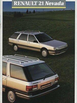 1988 Renault 21 Nevada Brochure French my6199