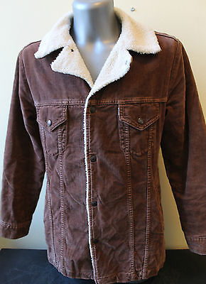 Mens Levis Strauss Jacket Vintage Brown Size M