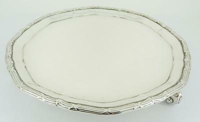 "Sterling Silver 8"" Tray / Salver Fordham & Faulkner Sheffield 1912 Superb. NICE1"
