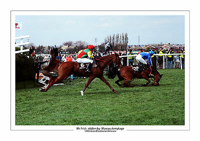 Grand National 1990 Mr Frisk Marcus Armytage Horse Racing A4 Photo Aintree