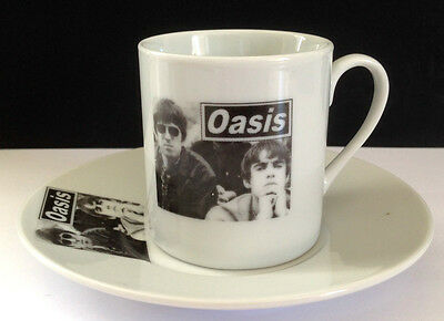 OASIS Liam and Noel Gallagher ESPRESSO CUP AND SAUCER