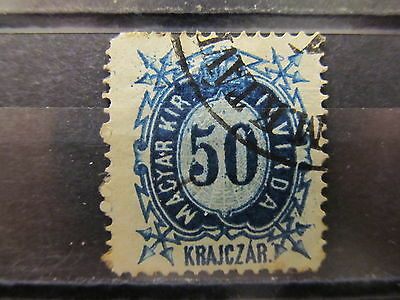 A2P16 HUNGARY TELEGRAPH STAMP 1873 50k USED