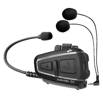 Cardo Scala Rider Q1 Solo Bluetooth Motorcycle Intercom Headset Srq10003