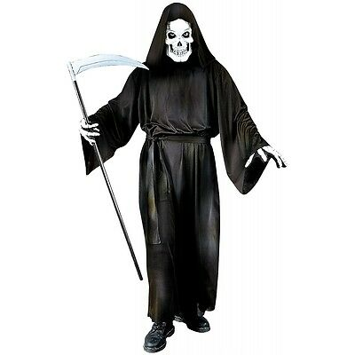 Grave Reaper Costume Adult Death The Grim Reaper Scary Halloween Fancy Dress