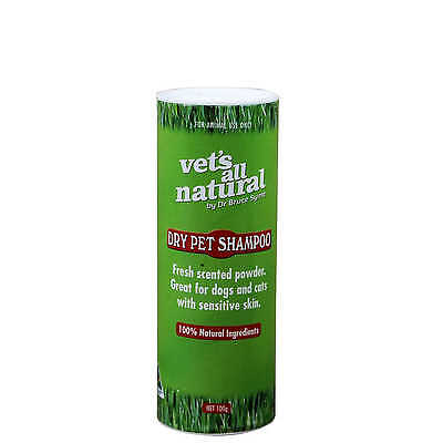 Vets All Natural - Dry Pet SHAMPOO Cleaner Dogs and Cats 100g