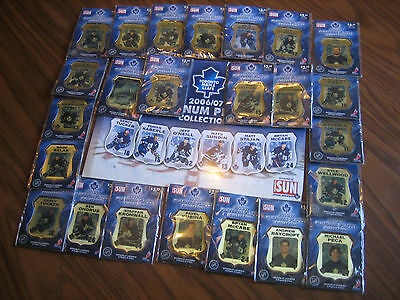 Toronto Maple Leafs 2006/07 Platinum Plaque Collection Complete With Book