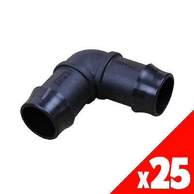 ELBOW 25mm Low Density Poly Fittings Garden Water Irrigation 44875 BAG of 25