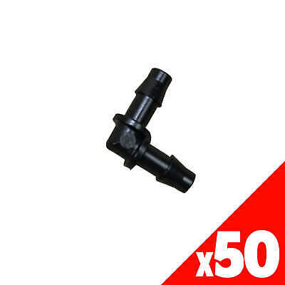 ELBOW 4.5mm Barb Micro Irrigation Poly Fittings Garden Water 40295 BAG of 50