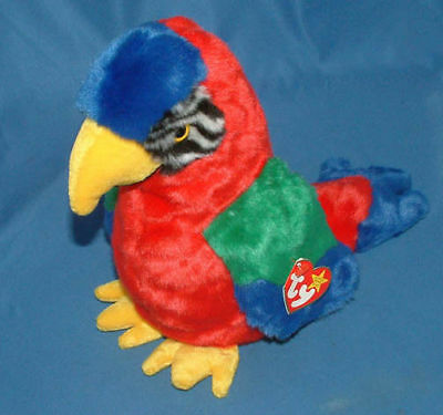 Ty Large Plush Beanie Buddy Jabber the Parrot  MWMT