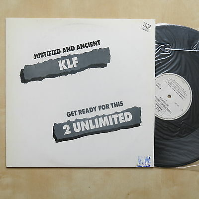 """THE KLF Justified And Ancient Brazil promo 12"""" single in picture sleeve ToCo Int"""