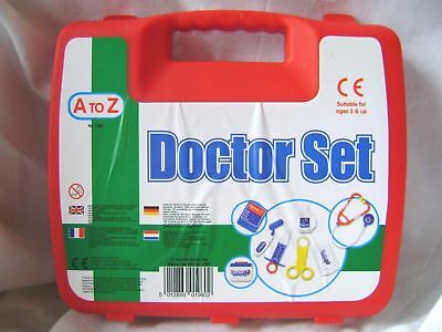 NEW 14 piece DOCTOR SET PLAY TOY MEDICAL TOOLS CHILDREN DOCTORS NURSE PADGETT