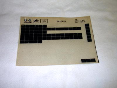 Kawasaki Kh125 Kh 125 K6 Gen Part Catalogue Microfiche