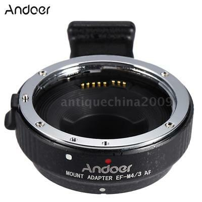 AF Auto Focus Lens Adapter Ring for Canon EF/EF-S to Olympus Panasonic M4/3 MFT