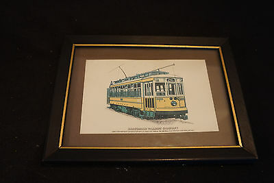 Old Vtg Baltimore Transit Company Trolley Car Picture Robert Durr Enterprises