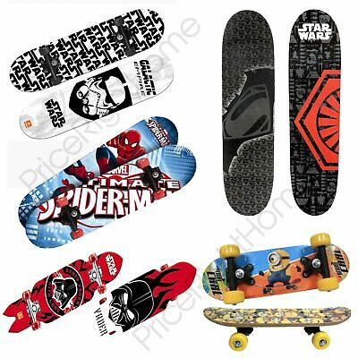 Kids Character Skateboards Outdoor Fun - Avengers, Star Wars, Minions + More New