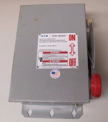 Eaton Cutler-Hammer Dh361Udk 30A 30 A Amp Non Fusible Safety Disconnect Switch