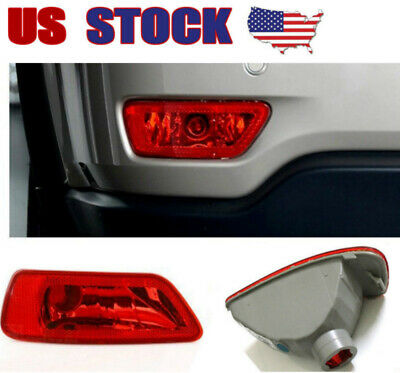 2pcs Tail Red Reflector Housing Fog Light Lamp Cover fits Jeep Compass 2011-2016